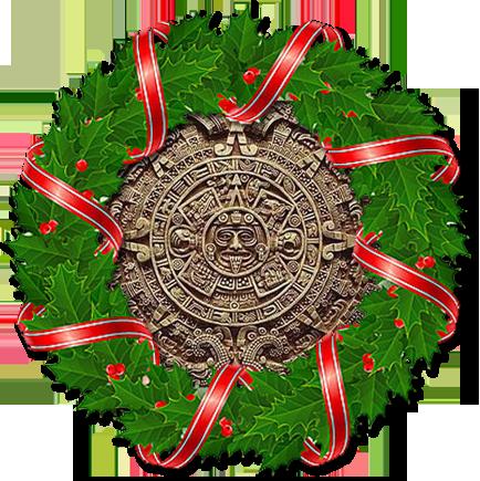 Festive Mayan Calendar