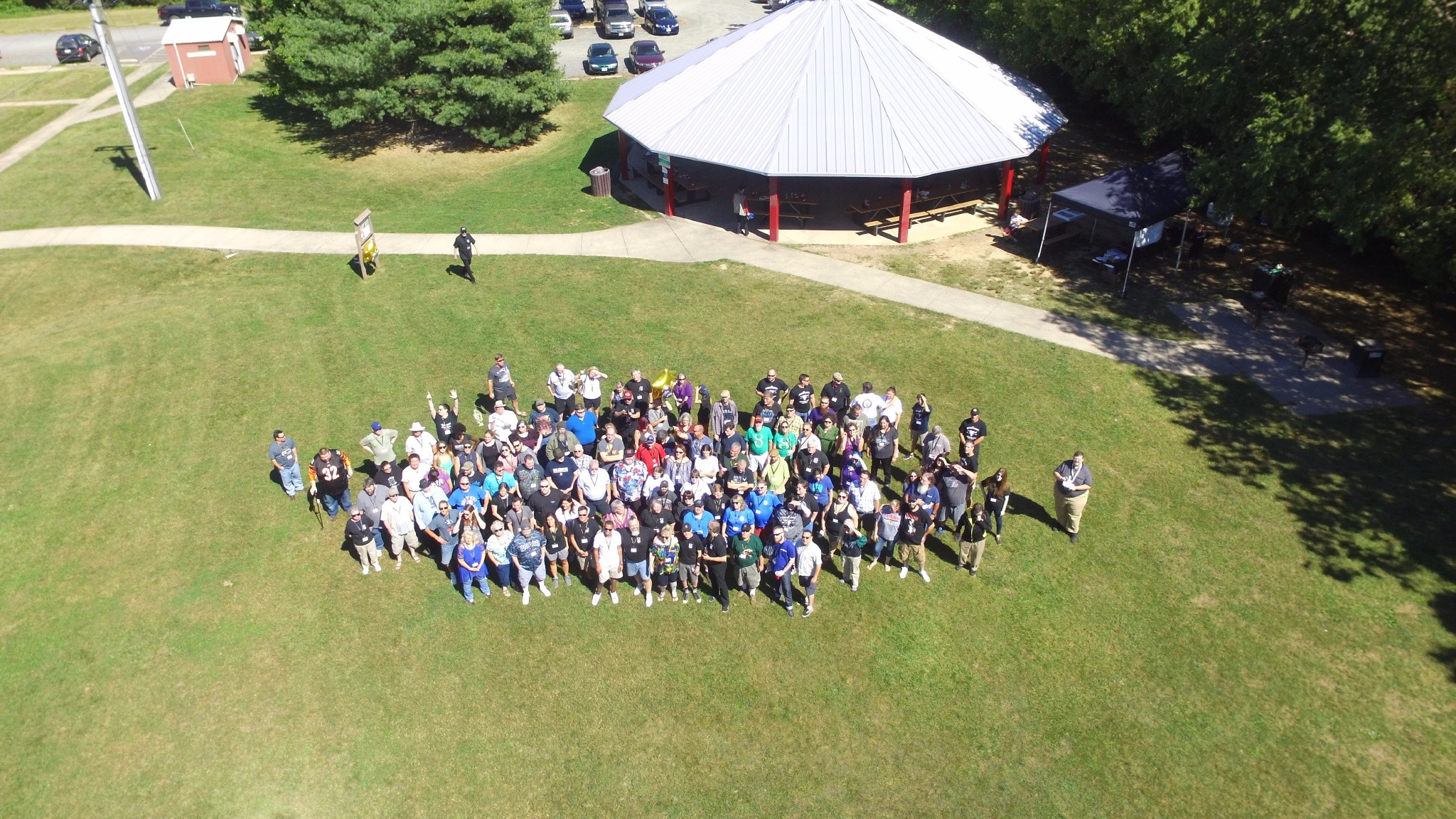 20th Anniversary BBQ Drone Photo
